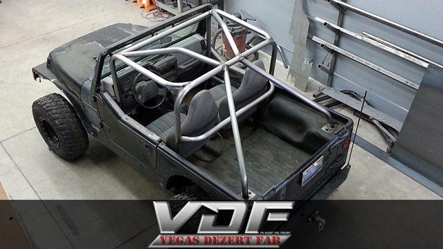 Customer Designed Jeep Tj Roll Cage Vegas Dezert Fab