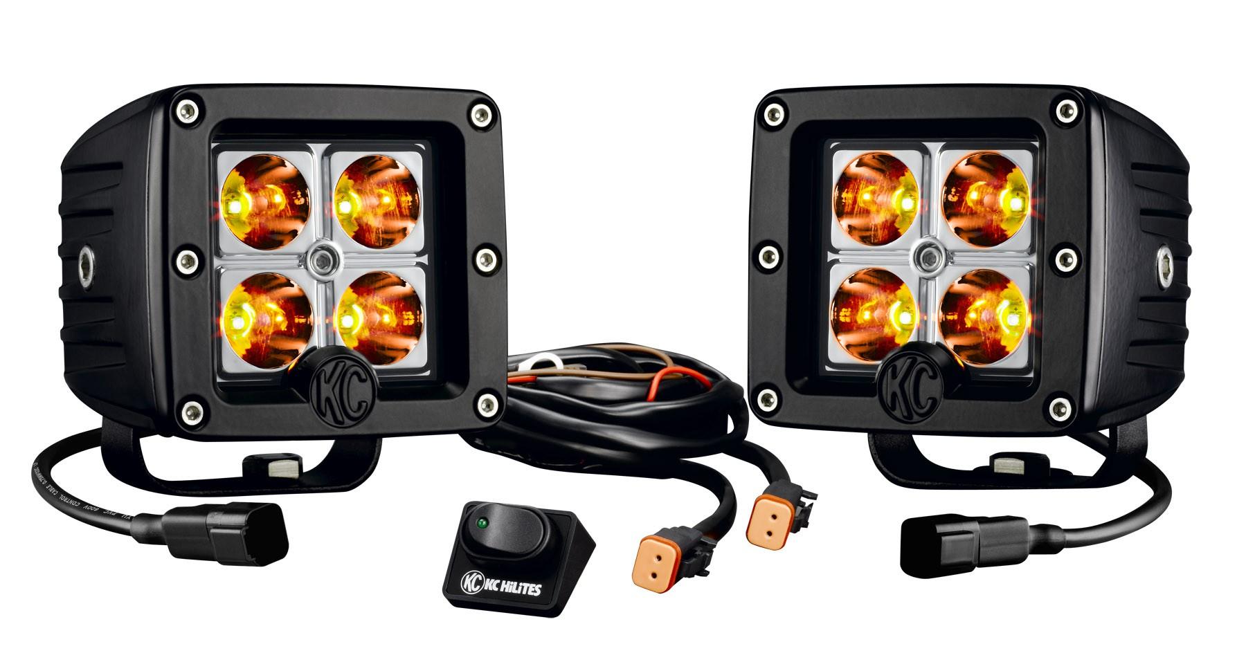 KC Hilites C3 LED 3 Cube Pair Pack Vegas Dezert Fab – Kc Hilites Wire Diagram 3