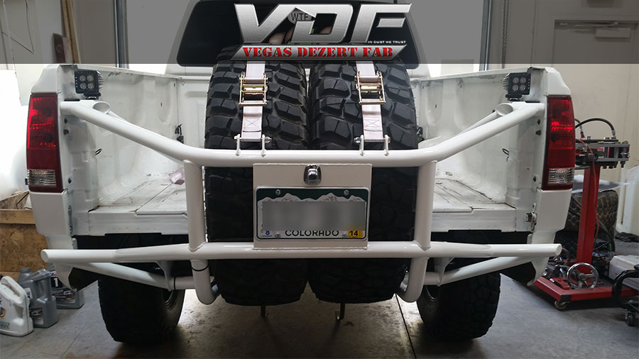 Nissan Titan Rear Prerunner Bumper and Tire Carrier ...
